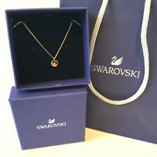 Authentic Swarovski Rose Gold Colour Small Pendant Necklace Ladies Gift Boxed