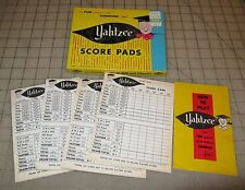 1956 YAHTZEE SCORE PADS In Original Box - Used, but not that much...
