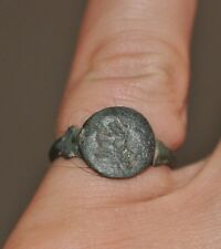 Ancient Roman Empire Soldier Legionary Wearable Bronze Ring Sz US 8.5