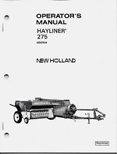 New Holland 275 Square Baler Operator Manual