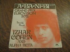 45 tours IZHAR COHEN AND ALPHA BETA a-ba-ni-bi grand prix eurovision 1978