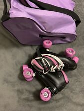 Girls Roller Skates Linexa Size 5 With Carrying Bag And Extra Laces