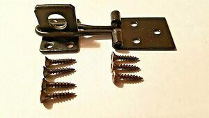 Hasp And Staple + Screws Rabbit Hutch Lockable Door Catch Fastener 75mm