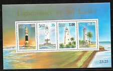 SRI LANKA Sc 1150A NH SOUVENIR SHEET of 1996 - LIGHTHOUSES
