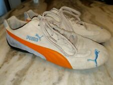 18e11e5e401623 Puma Orange   Blue suede Leather Driving Shoes US Women s Sz 11 Racing  Sneakers