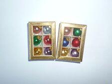 2 x 6  Miniatur Christbaumkugeln i.Karton, aus Glas 10mm bunte, matt & glänzend