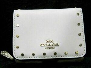 Coach Rivets Small Trifold Wallet Signature Snake Light Khaki/Cream Multi C3322