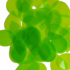 Lime Green Transparent Sequins Teardrop See-Thru 1.5 inch Lge Couture Paillette