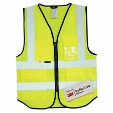 Vestes et gilets de Haute Visibilité Vêtements de protection fluorescents avec poches multiples Traffic warning Reflective Jacket Fabriqué avec 3m Scotchlite 3 Tailles