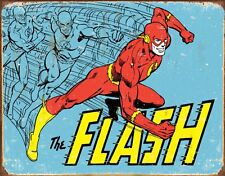 "The Flash Distressed Retro Vintage Tin Sign 8"" x 12"" Art Poster Collectible"
