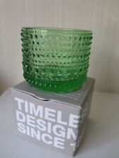 Green Retro Scandinavian Art Glass