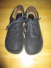 Womens BORN Black Leather Suede Upper Lace Walking Shoes Sz  8.5 EU / 7 M US