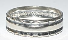 6mm sólido de plata esterlina 925 Anillo tamaño S (3.18 gramos)