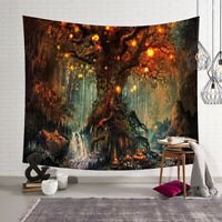 Wall Fabric Hanging Art Tapestry Mat Blanket Tree Home Bedroom Decoration