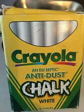 Vintage Crayola Anti-Dust White Chalks in an Original Box Made in France