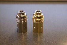 E14/SES PLAIN 10MM BULB LAMP HOLDER- BRASS OR NICKEL