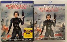 RESIDENT EVIL RETRIBUTION 3D/2D BLU RAY 2 DISC + RARRE OOP LENTICULAR SLIPCOVER
