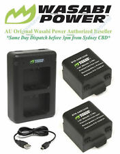 Wasabi Power Battery x 2 and Dual USB Charger for Garmin VIRB X, Garmin VIRB XE