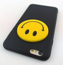 BLACK FUN 3D HAPPY FACE SILICONE RUBBER CASE COVER APPLE IPHONE 6s PLUS
