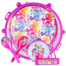 Kids MY LITTLE PONY Music BAND SET Drum Carry Case Preschool