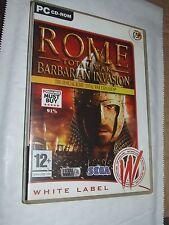 Rome Total War: Barbarian Invasion -  Expansion Pack  PC Game  Windows XP Vista