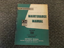 Detroit Diesel GM 4 Four Head 110 Series Engine Shop Service Repair Manual