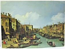 The Grand Canal Near the Rialto Bridge, Venice by Canaletto Reproduction.