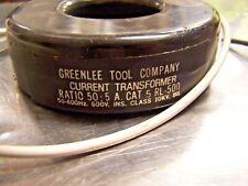 Greenlee Current Transformer Rl 500 Ratio 505 Amp 600 Volt Cat 5