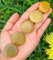Golden Healer Quartz Natural Gemstone Worry Healing Stone Pocket Palm Stone