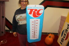 """Vintage 1960's Royal Crown Cola Soda Pop Gas Station 26"""" Metal Thermometer Sign"""