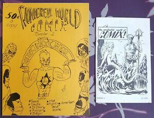 RARE ~ tHE wONDERFUL wORLD oF cOMIX #1 ~ 1970, #6 ~ 1971 Fanzine