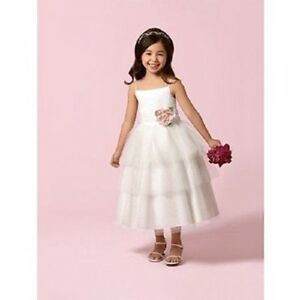 Alfred Angelo-Style 6617-white- size 6x-Flowergirl/Holiday/Pagent 928-43
