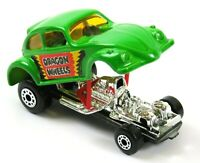 Matchbox Superfast No. 43 Dragon Wheels Beetle, Green, Excellent, 1972