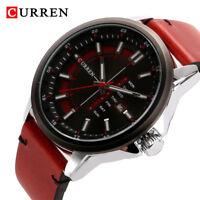 CURREN Fashion Men's Week Calendar Dial Watch Leather Analog Quartz Wristwatch