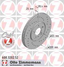 Disque de frein avant ZIMMERMANN PERCE 600.3202.52  VW GOLF III 1H1 1.9 TDI 110c