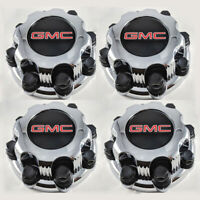 "4x 8 Lug 16"" Chrome Wheel Center Hub Caps Rim For GMC Yukon Sierra VAN 2500 1500"