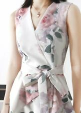 AUTH Ted Baker DEWANA Floral Print Tiered embroidered dress 0-5