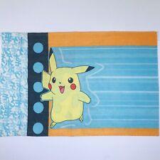 Vintage 1998 Pokemon Standatd Size Pillowcase Nintendo Pikachu