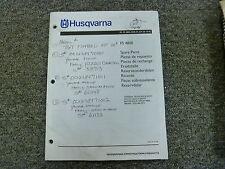 Husqvarna Model FS4800 Concrete Road Floor Saw Parts Catalog Manual Book
