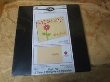 New NIP Sizzix BIGZ PRO Die Movers & SHapers 656433 A2 Card Vertical & Flower