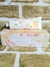 Lollia BELIEVE Cabbage Rose & Citrus Shea Butter Hand Creme Cream 4 oz *NEW