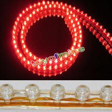 2X 48cm 48 LED SMD luz  tira Lámpara coche motocicleta impermeable flexible ROJO