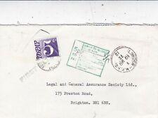 GB 1972 5p To Pay London-Brighton Cover VGC