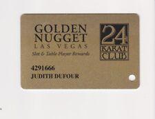 Players Slot Club Rewards Card The Golden Nugget 24 Karat Club Las Vegas NV