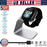 For Fitbit Versa 3 Special Edition Smart Watch USB Charging Dock Charger