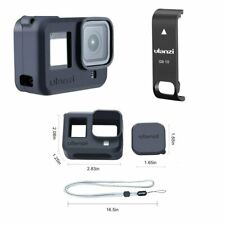 Protective Case+Removable Battery Lid Door Cover For GoPro Hero8 Camera