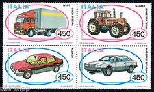 ITALIA 1 BLOCCO CON AUTOMOBILISTICHE ITALIANE AUTO VEICOLI 1984 nuovo**