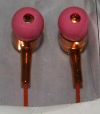 Tzumi Stereo High Definition Earbuds - Pink/Gold Ear Buds New