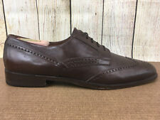 E.T. Wright Wing Tip Oxford Dress Shoes Brown Size 12 S Extra Narrow