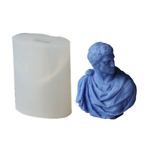 Gypsum Portrait Candle Plaster Mould Wax Scented Candle Beeswax Silicone Mold